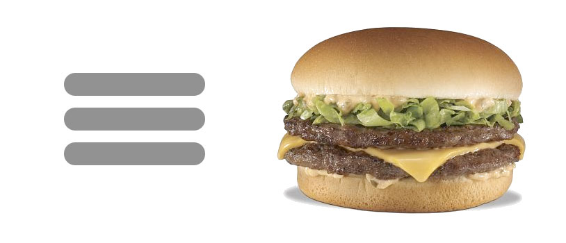 How does this look like a hamburger?  What kind of awful hamburgers are you eating?